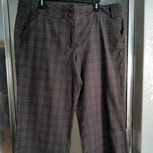 grey wide leg slacks/trousers/pants Lane Bryant 20